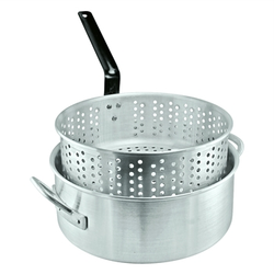 Bayou Classic Aluminum Handcrafted Deep Fry Pot With Basket - 10 Qt.