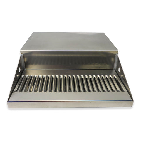 "Stainless Steel Jockey Box Drip Tray with Drain - 12"" x 6"" x 3/4"" - Canadian Homebrewing Supplier - Free Shipping - Canuck Homebrew Supply"
