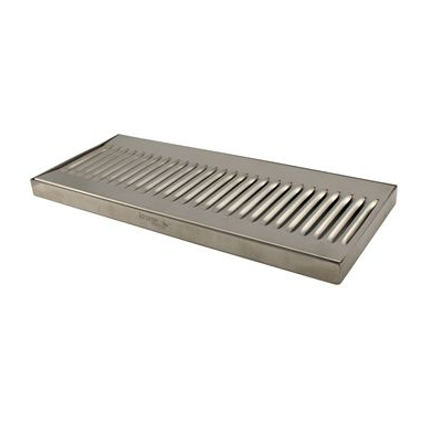 "14"" x 6"" x 3/4"" Stainless Steel Surface Mounted Drip Tray"