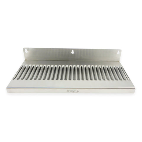 "Premium Stainless Steel Wall Mount Drip Tray - 14""x 6""x 3/4"" - Canadian Homebrewing Supplier - Free Shipping - Canuck Homebrew Supply"