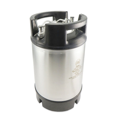Ball Lock Keg - 2.5 Gallon Dual Handle AEB