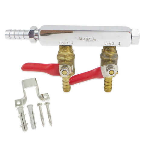 2 Way Gas Manifold (Commercial Grade)