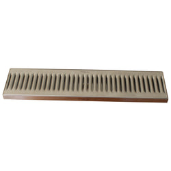 "Surface Mount Drip Tray w/ Drain - 20"" x 5"" x 3/4"""