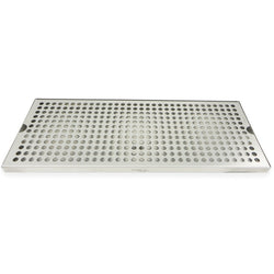 "Premium Stainless Steel Counter Top Drip Tray with Drain - 20"" x 8"" x 3/4"" - Canadian Homebrewing Supplier - Free Shipping - Canuck Homebrew Supply"