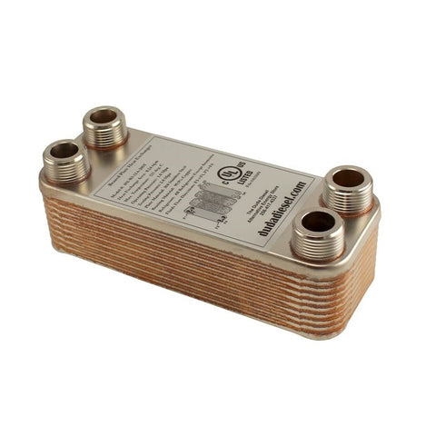 "20 Plate Wort Chiller - B3-12A-20ST 3/4"" Male NPT - Canadian Homebrewing Supplier - Free Shipping - Canuck Homebrew Supply"