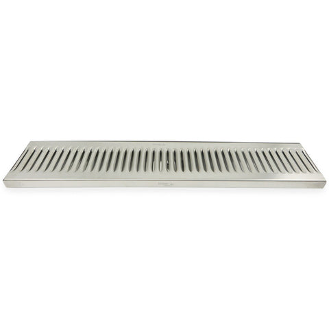 "Premium Stainless Steel Surface Mount Drip Tray with Drain - 24"" x 5"" x 3/4"" - Canadian Homebrewing Supplier - Free Shipping - Canuck Homebrew Supply"