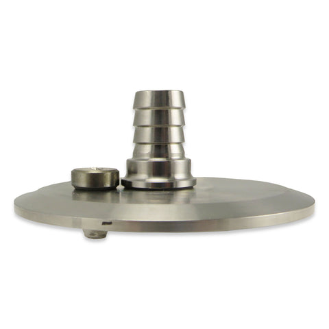 "Stainless Steel 3"" TC Cap with 1/2"" Blow Off & Pressure Relief"