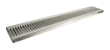 "Stainless Steel Surface Mount with Drain Drip Tray - 36"" x 5"" x 3/4"""
