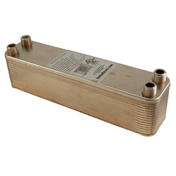 "30 Plate Wort Chiller - 1/2"" Male NPT - 12"" - Canadian Homebrewing Supplier - Free Shipping - Canuck Homebrew Supply"