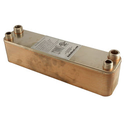 "30 Plate Wort Chiller - 1/2"" Male NPT x 3/4"" Male NPT 12in - Canadian Homebrewing Supplier - Free Shipping - Canuck Homebrew Supply"
