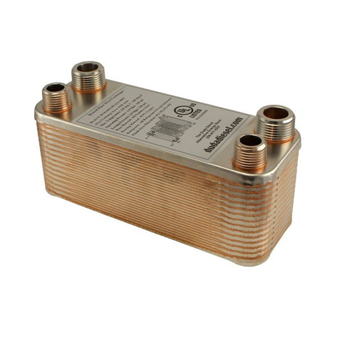"30 Plate Wort Chiller - 1/2"" x 3/4"" Male NPT - 7.5in - Canadian Homebrewing Supplier - Free Shipping - Canuck Homebrew Supply"