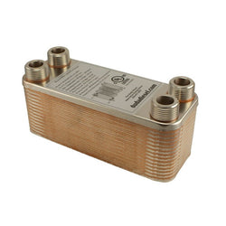 "30 Plate Wort Chiller - 3/4"" Male NPT - 7.5in - Canadian Homebrewing Supplier - Free Shipping - Canuck Homebrew Supply"