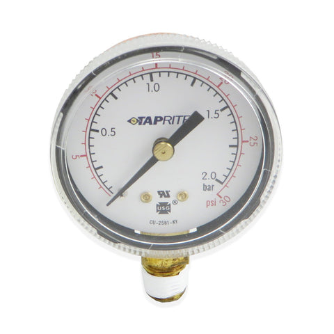 Low Pressure Gauge (30PSI RHT) #5602