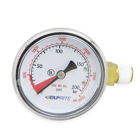 High Pressure Gauge (3000PSI LHT) #6603