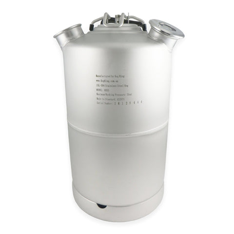 4 Gallon Stainless Steel Line Cleaning Keg - Canadian Homebrewing Supplier - Free Shipping - Canuck Homebrew Supply