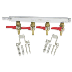 4 Way Gas Manifold (Commercial Grade)