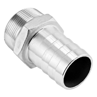 "Stainless Steel Fitting - 1.5"" Male NPT X 1.5"" OD Barb"
