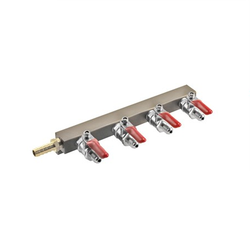 "4 Way Gas Distributor (Manifold) – 1/4"" MFL"