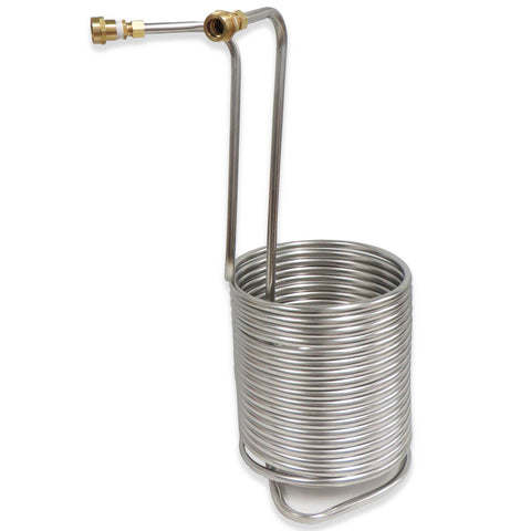 "Stainless Steel Immersion Wort Chiller - 50' by 1/2"" - with Garden Hose Fittings - Canadian Homebrewing Supplier - Free Shipping - Canuck Homebrew Supply"
