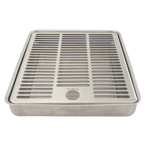 "Stainless Steel Flush Mounted Drip Tray - 8"" x 7"" x 1"" - Canadian Homebrewing Supplier - Free Shipping - Canuck Homebrew Supply"