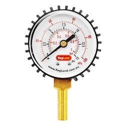 "Duotight (Push-In) Pressure Gauge - 5/16"" OD - 0-15 PSI"