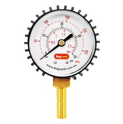 "Duotight (Push-In) Pressure Gauge - 5/16"" (8mm) - 0-40 PSI"