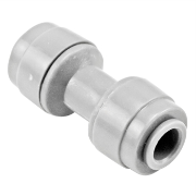 "Monotight Food Grade Plastic (Push-In) Straight Connector - 1/4"" (6.35mm)"