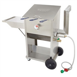 9 Gallon - Stainless Steel Deep Fryer - Triple Basket