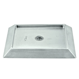 "Stainless Steel Bevel Edge Drip Tray with Drain - 9"" x 6.5"" - without Grill"