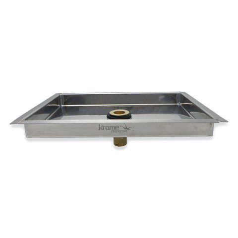 "Stainless Steel Flanged Drip Tray With Drain - 9""x 6""x 3/4"" - Canadian Homebrewing Supplier - Free Shipping - Canuck Homebrew Supply"