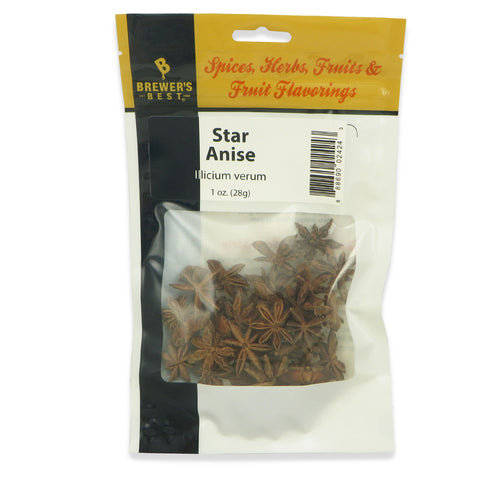 Star Anise - 1 oz (28 g) - Canadian Homebrewing Supplier - Free Shipping - Canuck Homebrew Supply