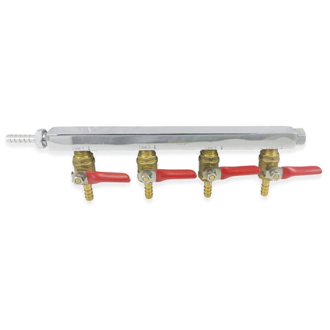"Commercial Grade 4 Way Gas Manifold - 1/4"" Barbs - Canadian Homebrewing Supplier - Free Shipping - Canuck Homebrew Supply"
