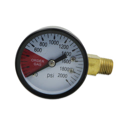 High Pressure Gauge - Left (0-2000 PSI) - Canadian Homebrewing Supplier - Free Shipping - Canuck Homebrew Supply