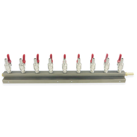 9 Way Gas Distributor (Manifold) - Canadian Homebrewing Supplier - Free Shipping - Canuck Homebrew Supply