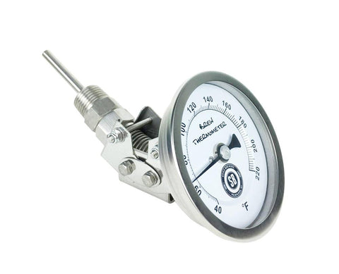 "1/2"" Male NPT Adjustable Thermometer with 3"" Face 