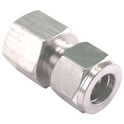 "Stainless Steel Fitting - 1/2"" Female NPT to 1/2"" Compression"