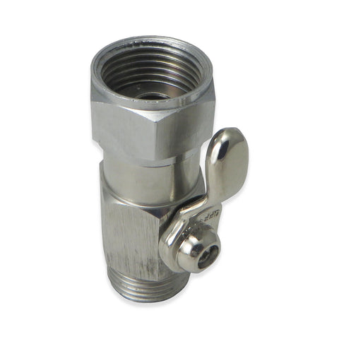 Stainless Steel Beer Shut Off Valve - Canadian Homebrewing Supplier - Free Shipping - Canuck Homebrew Supply