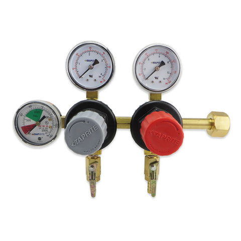 Dual Product Beer and Soda CO2 Regulator (60, 160, & 2000PSI) #T5752HP-05 - Canadian Homebrewing Supplier - Free Shipping - Canuck Homebrew Supply