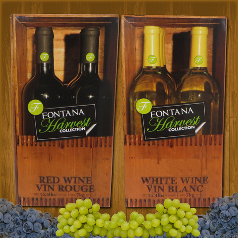 Fontana Wine Kit – Harvest - Zinfandel Blush - Canadian Homebrewing Supplier - Free Shipping - Canuck Homebrew Supply