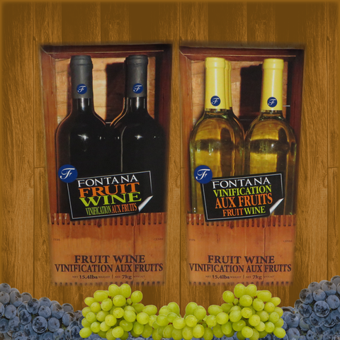 Fontana Wine Kit – Fruit - Wildberry White Zinfandel - Canadian Homebrewing Supplier - Free Shipping - Canuck Homebrew Supply