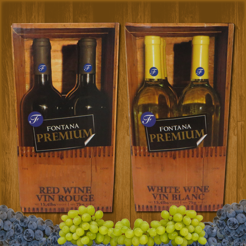 Fontana Wine Kit – Premium - Merlot - Canadian Homebrewing Supplier - Free Shipping - Canuck Homebrew Supply