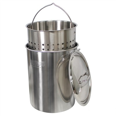 Bayou Classic Stainless Steel Stock Pot - 122 Quarts