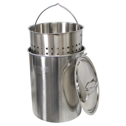 162 Quart Stockpot with Lid and Perforated Basket
