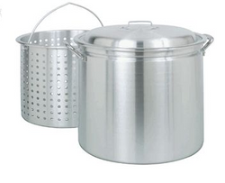 42 Qt. Aluminum Stock Pot with Steamer Basket