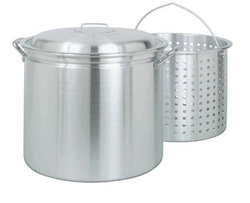 60 Quart Aluminum Stockpot with Basket