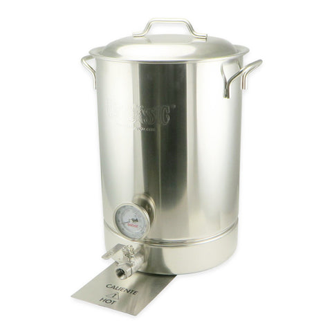 8 Gallon 4 Piece Stainless Steel Brew Kettle Set