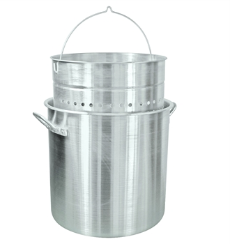 Bayou Classic Aluminum Stock Pot With Basket - 100 Qt. [1000]