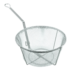Bayou Classic Nickel-Plated Mesh Fry Basket - 11""