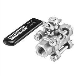 "Blichmann Stainless Steel 3-Piece Ball Valve - 1/4"" Female NPT"