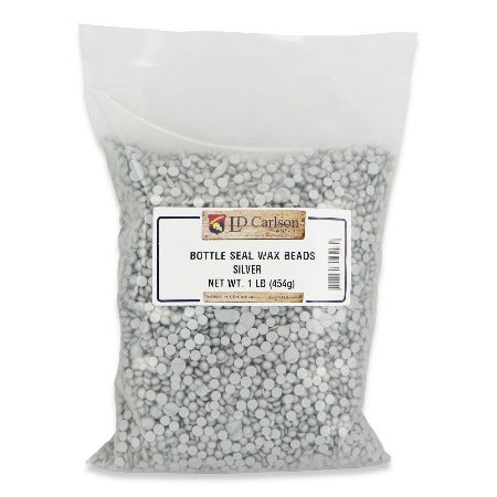 Bottle Seal Wax Beads - Silver (1lb)